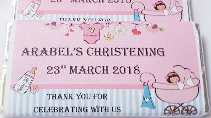 Christening Personalised Chocolates