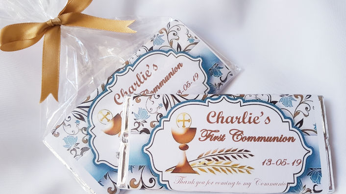Communion Personalised Chocolates